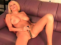 blonde young busty vibrator masturbation solo