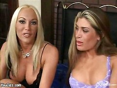 lesbians big boobs licking dildo squirting