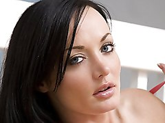 grey eyes  big tits  round tits  beautiful tits  brunette  czech Melissa Lauren
