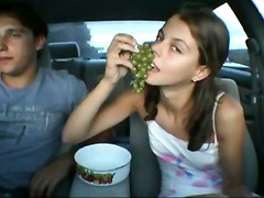 russian teenie blowjob sucking car
