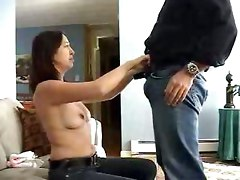 small tits amateur brunette teasing homemade blowjob handjob face fuck deepthroat milf