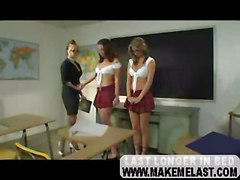 lesbians lick teacher boobs stockings