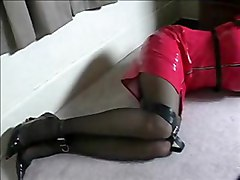 solo fetish bondage latex tranny