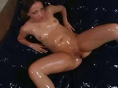interracial oil ebony blowjob sex toys dildo fucking