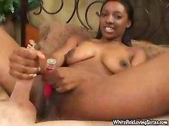 Ebony Handjob Tease