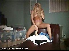 dildo blonde wet toy toys masturbation solo dildos bathtub