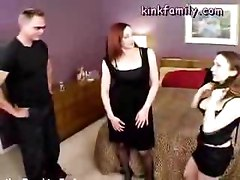Mom and her real daughter both like porn and sex and fuck a man together on camera