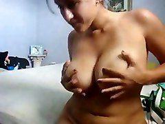 webcam amateur homemade big tits chubby tight teasing masturbation solo fingering latina