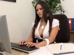 office sex lick nipples hardcore brunette