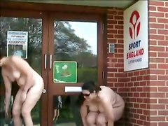 Public Flashing In Front Of Our Sports Gym