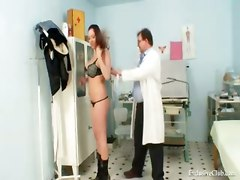 pussy fetish exam busty breasts close up doctor clinic reality