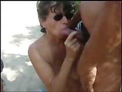 Amateur Beach Bukkake