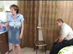 Mature Russian Seduces Fat Boy