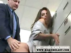 anal cumshot blowjob brunette threesome bigass office