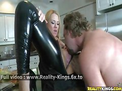 milf latex sexy gorgeous babe licking oral sex gorgeous