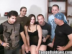 group bukkake ass pussy tight tiny sweet slit wet cute hot sexy fuck fucking blow cum swallowing cumshot shot sperm jizz tampa bukkake orgy table brunette
