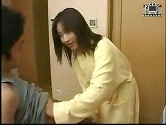 japanese handjob cum hard dick teen
