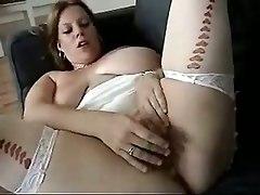 large ladies bbw big tits natural brunette stockings lingerie girlfriend couple amateur homemade doggystyle riding masturbation fingering cumshot creampie big tits
