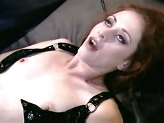 stockings skinny redhead fishnet lingerie analsex heels orgasm chloe nicole stilettos