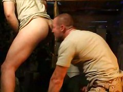 gay muscle military rimming rim