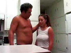 Fucked By Stepdad in kitchen Incest Roleplay
