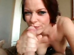 milf deep throat swallow facial blowjob