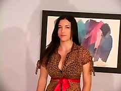amateur homemade brunette striptease lingerie stockings masturbation solo pornstar piercing big tits