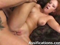red head blowjob deepthroat gagging anal hardcore rubbing fingering ass gaping ass to mouth doggystyle pussy pornstar big tits