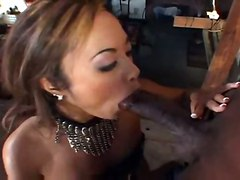 stockings cumshot fucking interracial bigcock lingerie asian fishnets heels