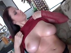 gianna michaels busty blowjob deepthroat big cock cumshot