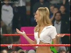 wrestling stacy keibler panties lace upskirt