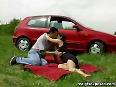 Plowed During Her Picnic In The Grass