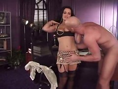 big tits pornstar brunette tight stockings reality big dick blowjob babe handjob pov pussylicking hardcore doggystyle ass riding couch cumshot milf office