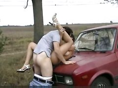 deepthroat face fuck gagging doggystyle amateur homemade outdoor public car brunette european blowjob handjob panties teasing big tits kissing pussylicking cumshot facial