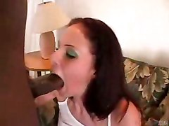 cumshot facial interracial blowjob brunette salivating deepthroat bigcock