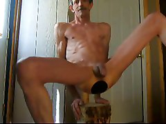 anal toy dildo fuck shaved cock balls ass plug toy