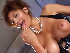 A man getting fetish sex with bigtits asian woman