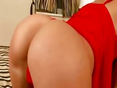 anal fingers butt plug dildo blonde shaved pussy