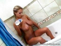 big tits solo shower