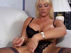 Blonde With Big Tits Lures A Cock To Sit On