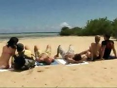 Beach Cumshots Group Sex
