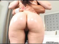 Big Ass Chick Takes A Shower And Eats Dick