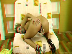 stereo teen toy masturbation 3D