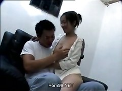 office sex Japanese hairy pussy tits brunette