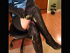 diva leather gloves boots legs femdom domina domme dominatrix tease denial domination