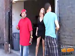 blonde MILF Nicole Moore gets banged by a fat cocked black stud