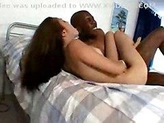 Horny White Babe Fucking With Black Guy