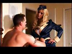 Naughty stewardess