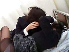 asian kissing schoolgirl teen lesbian stockings japanese teasing panties fetish