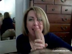 cumshot blowjob amateur homemade oral